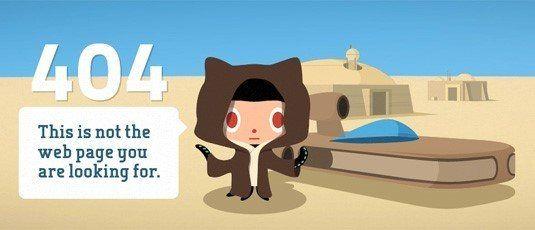 Github Starwars 404 Page