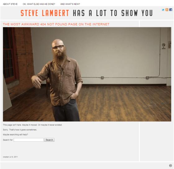 Visit Steve 404 Page