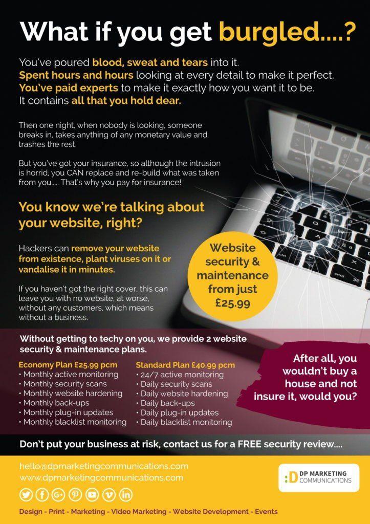 Web Maintenance Flyer